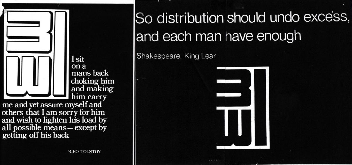 Scans of old posters, with Tolstoy and Shakespear quotes