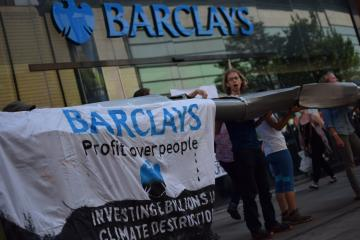 Protest outside Barclays
