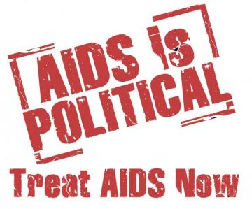 AIDS is POLITICAL logo