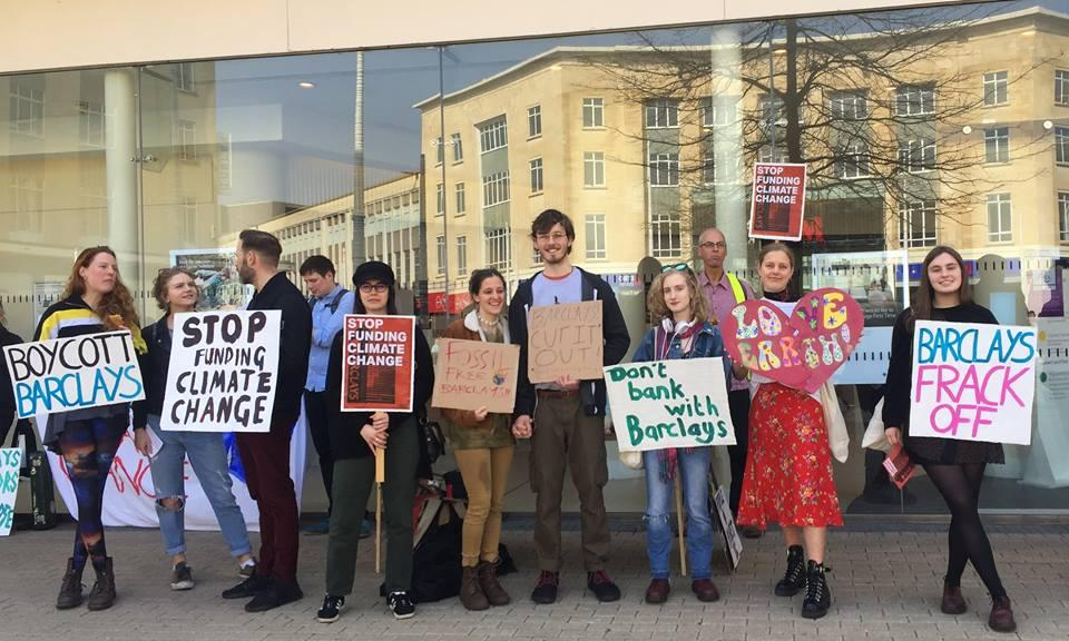 Bristol students protest Barclays