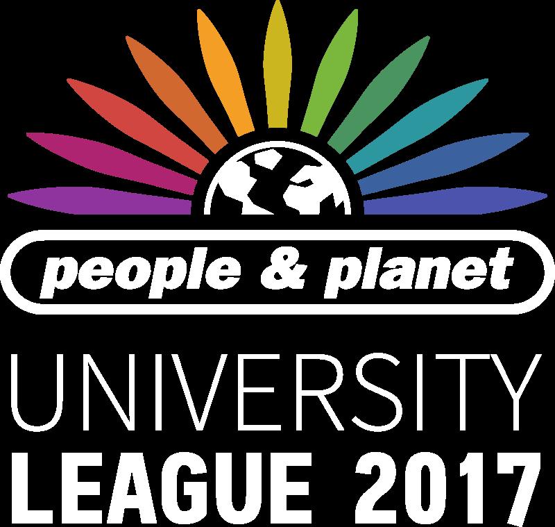 People & Planet University League 2017 logo