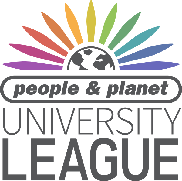 People & planet University League logo with image of earth