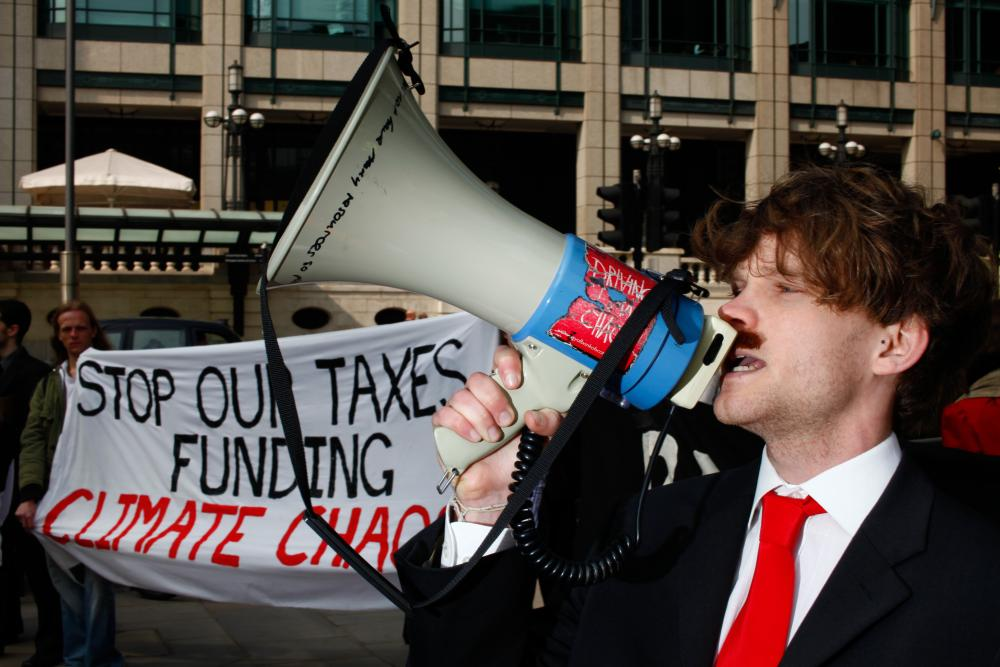 Stop our taxes funding climate change