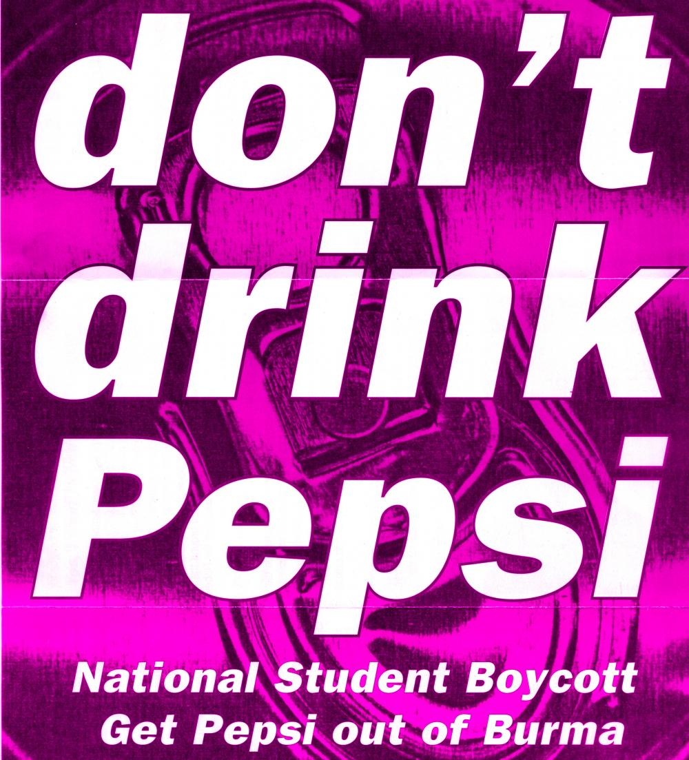 don't drink pepsi campaign poster