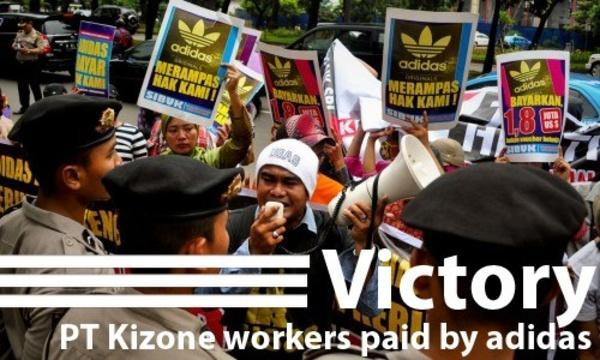 Photo of PT Kizone worker protest