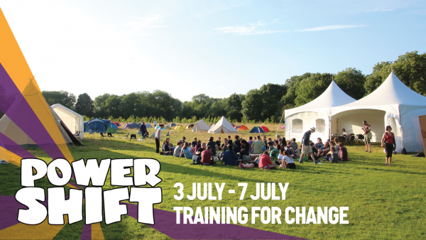 Promo image with photo from previous Power Shift and dates 3 July to 7 July