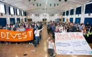 Photo of Fossil Free campaign launch at Shared Planet 2013